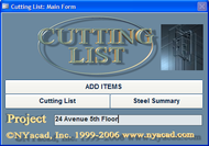 Cutting List screenshot